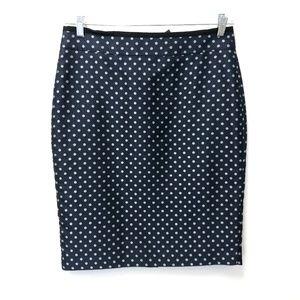 Ann Taylor Polka Dot Pencil Skirt Size 10